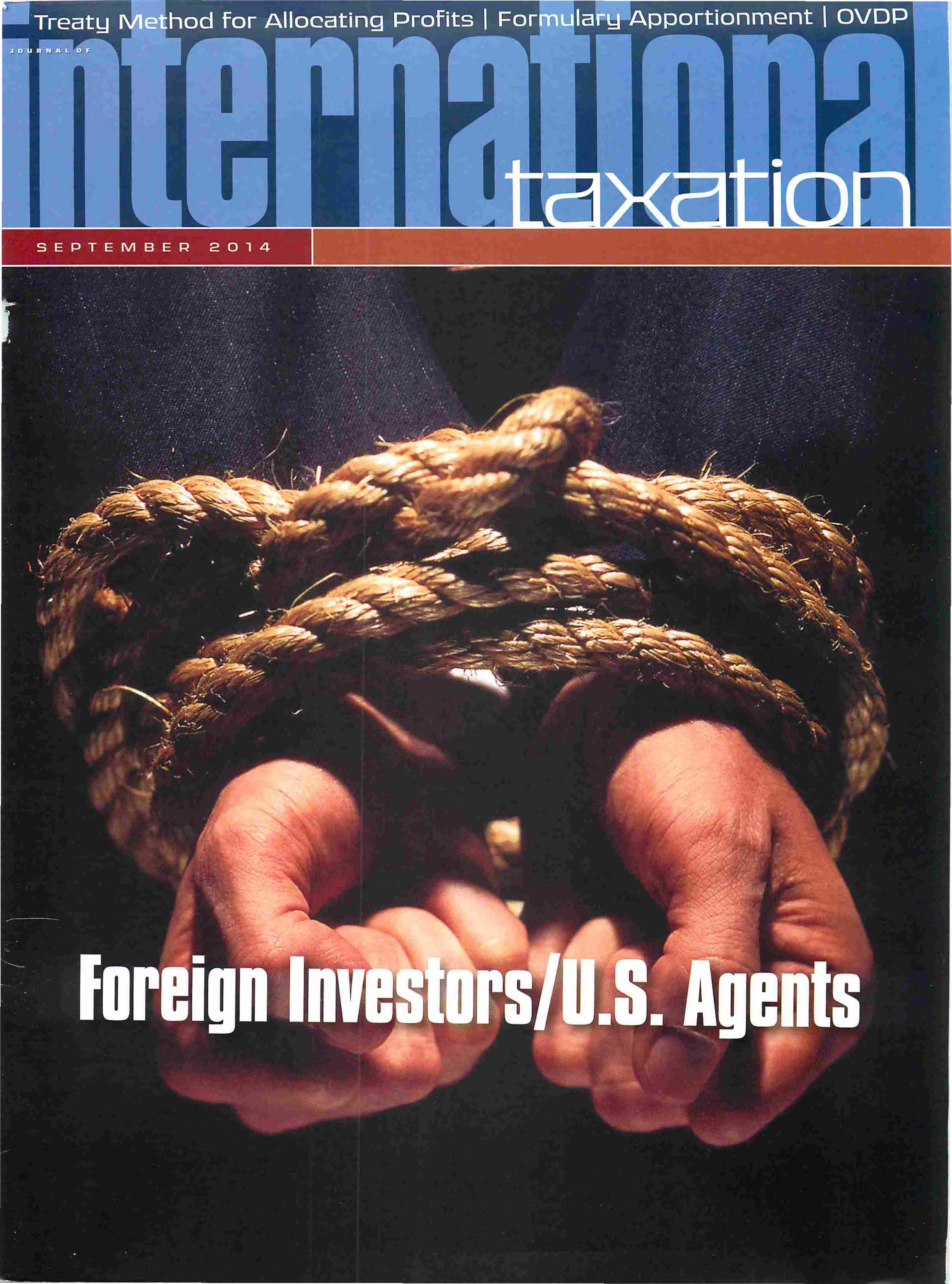 Foreign Investors Beware: Attribution of U.S. Trade or Business Through U.S. Agents